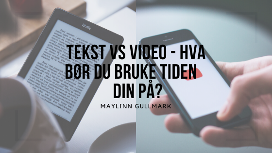 tekst vs video